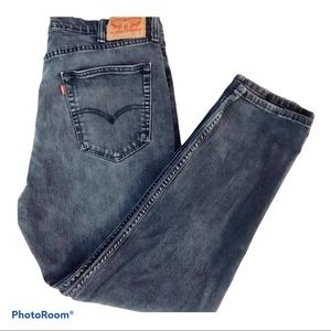 LEVI STRAUSS Men's Black Jeans 522, Size W38, L30
